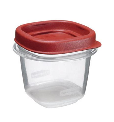 Rubbermaid 1776477 Food Storage Container, 1/2 Cup, Clear Base
