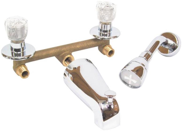 Us Hardware P-004n Tub & Shower Faucet, 2-value, Clear