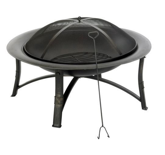 "Living Accents Srfp90 Ember Fire Pit, Round, 35"" D"