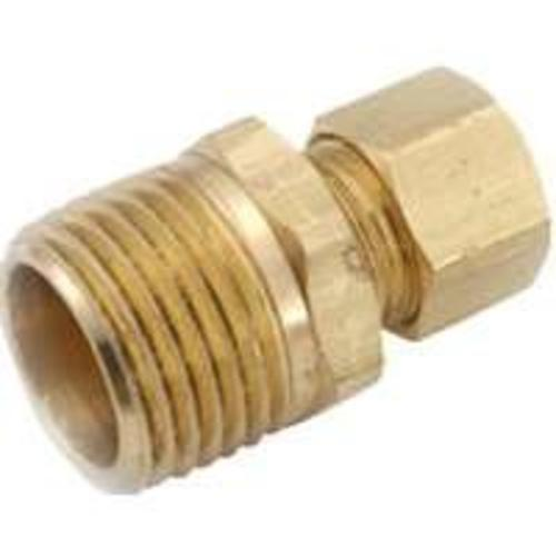 Anderson Metals 750068-0408 Brass Compression Fitting Plf 768, 1/4