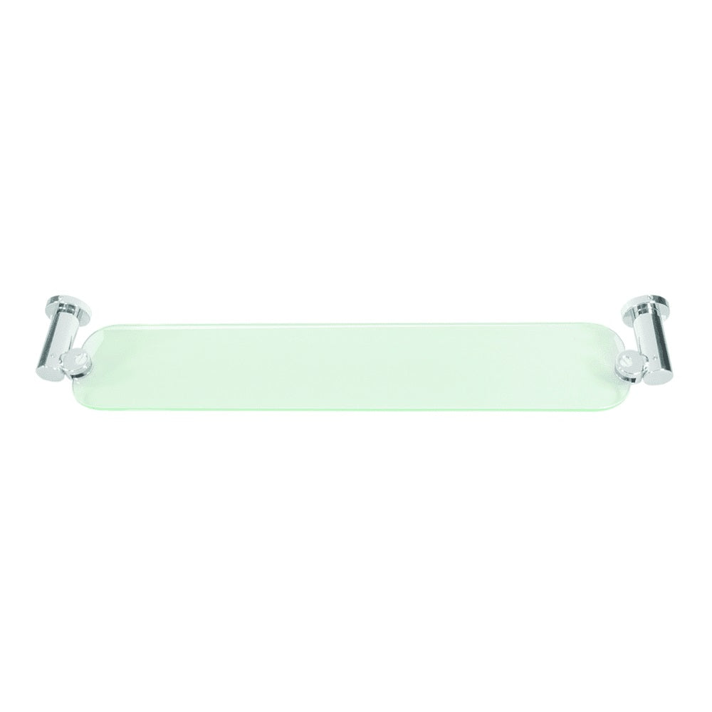 """Deltana BBN2015/20-15 Nobe Series Shampoo Shelf with Glass, Brushed Nickel, 20"""""""