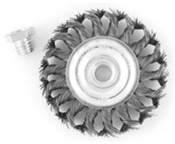 Vulcan 694341or Knotted Wire Wheel Brush, Carbon Steel, 4