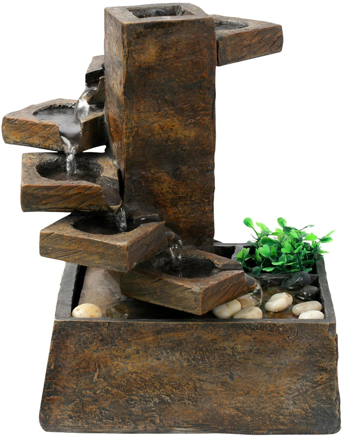 Alpine Tt8000 Pouring Water On Step Stone Fountain With Pump