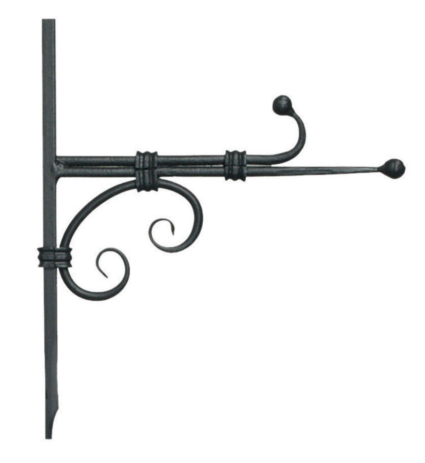 "Panacea 89421 Forged Hook With Hook & Ball, 10"", Black"