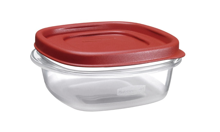 Rubbermaid 1777084 Food Storage Container, 1-1/4 Cup, Clear Base