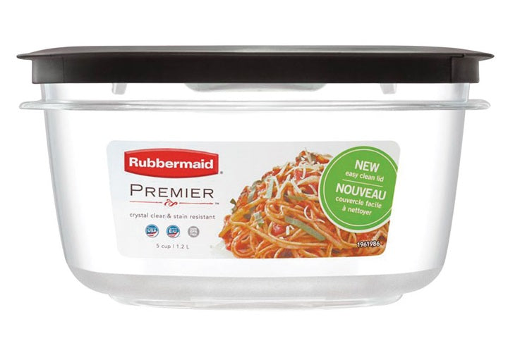 Rubbermaid 1937691 Premier Food Storage Container, Grey, 5 Cup