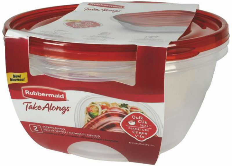 Rubbermaid 1787831 Takealongs Round Covered Food Storage Container, 15.7cups