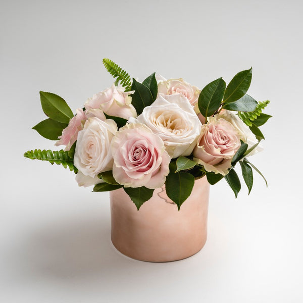 """Rose Luxe"" Valentine's Day pink rose flower bouquet"