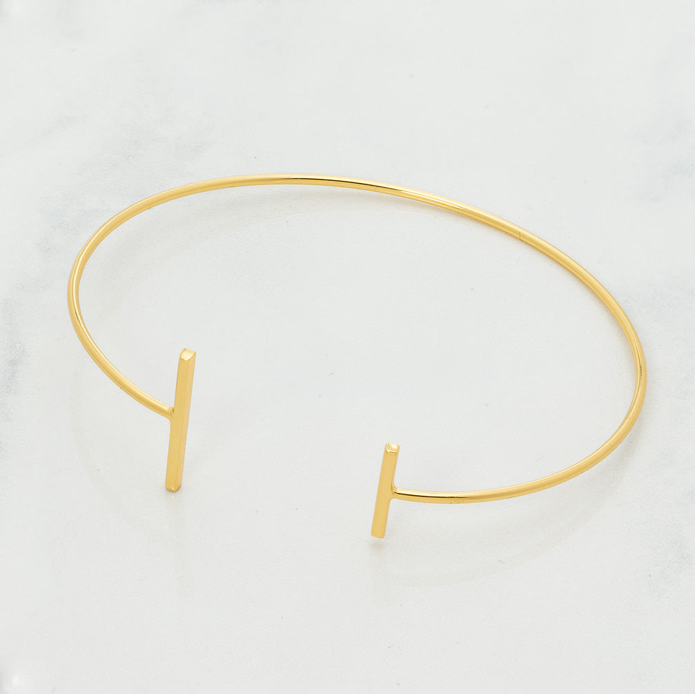 Girl Love Fund Gold Minimalist Bracelet with Bars