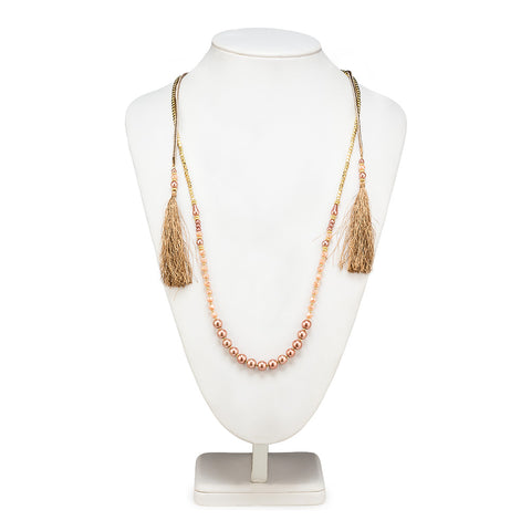 Double Strand Necklace with Bead