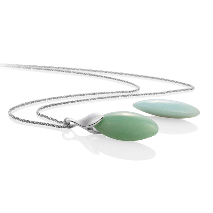 Green Aventurine & Amazonite Leaf set