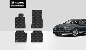 BMW 750i 2017 Floor Mats Set Rear Wheel Drive