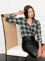 Womens Black/Green The Signature Shirt in Black/Green Plaid 2