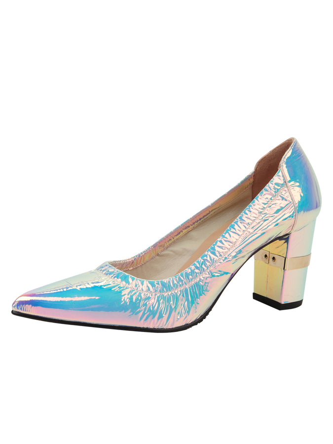Womens Cioccolatino Argento Party Rock And Roll Pump