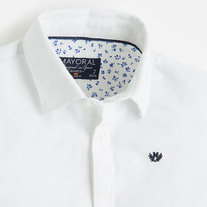 Mayoral Boys White Oxford Shirt