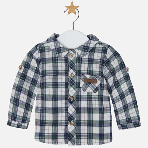 Mayoral Baby Boy Plaid Shirt - Pino