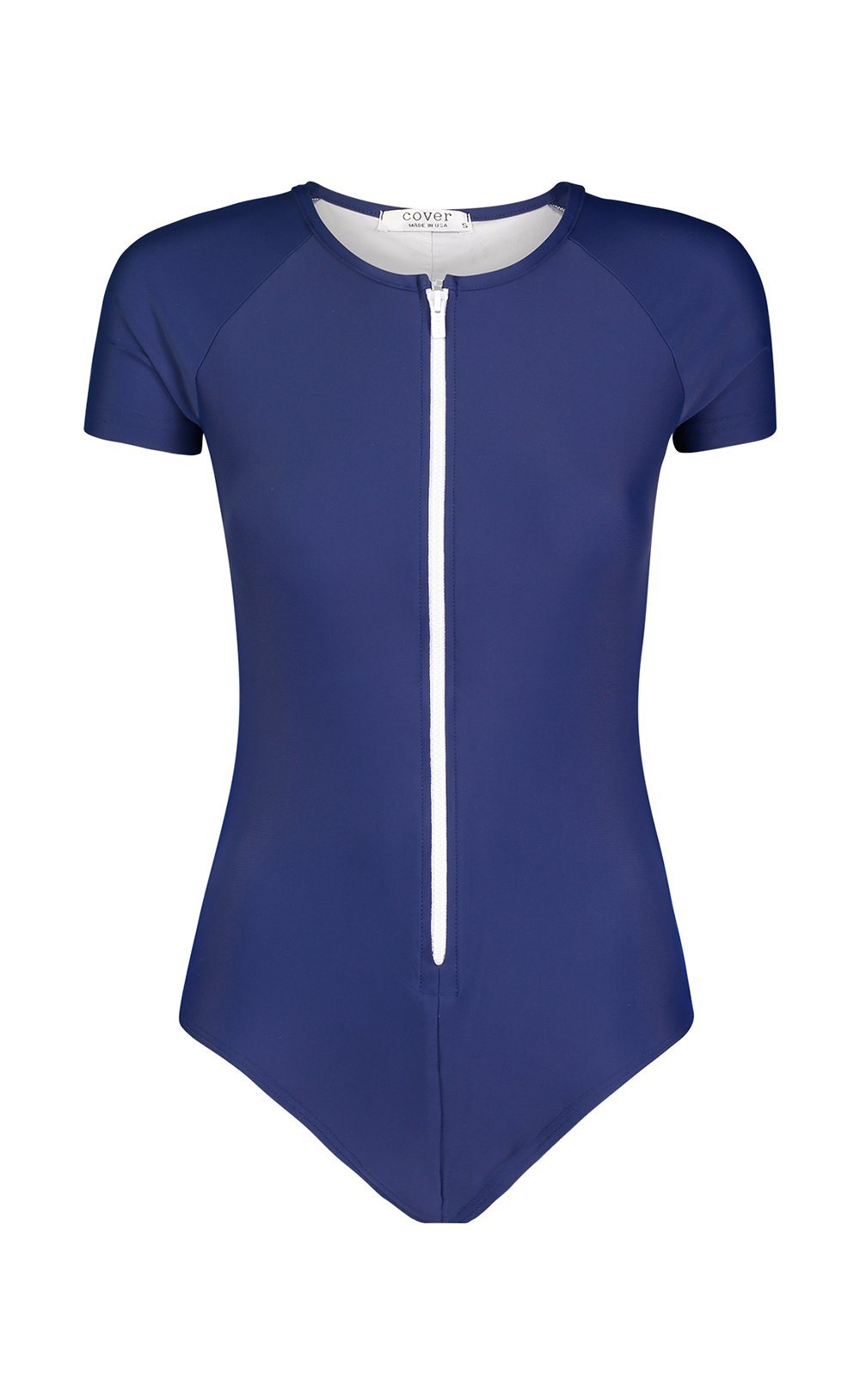 Short-Sleeved Swimsuit - Navy