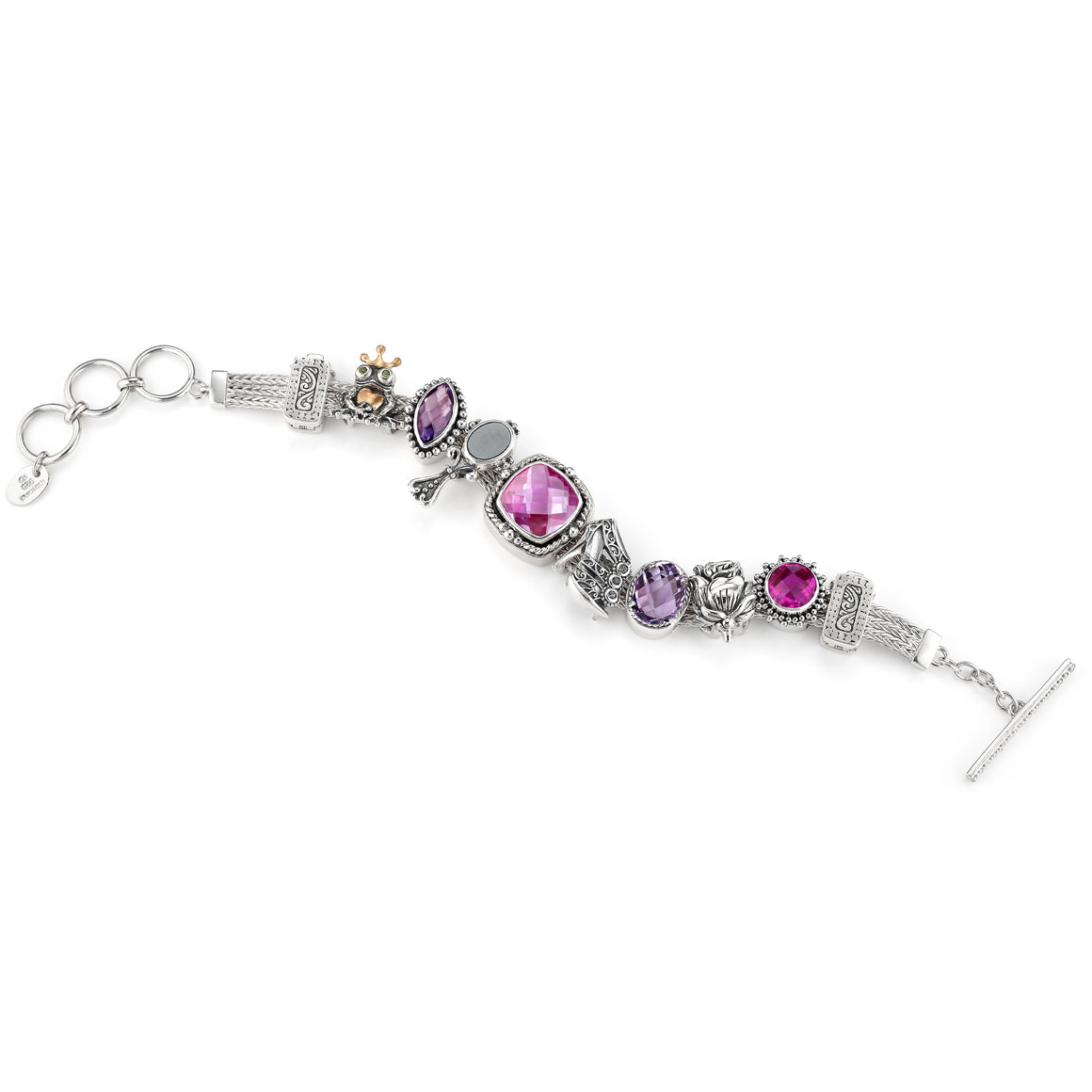 The Happily Ever After Slide Charm Bracelet from Get the Look by Lori Bonn (412204)