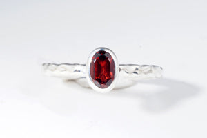 January Garnet stackable ring  from Last Chance by Lori Bonn (310901G)