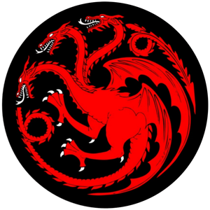 House Targaryen Sigil - Game of Thrones - 3.5 inch Sticker