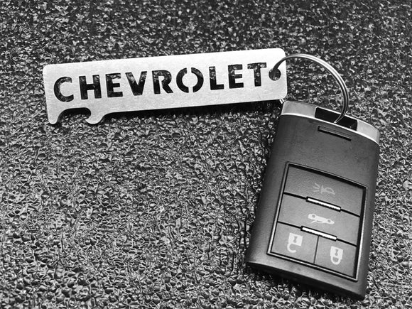 CHEVROLET / CHEVY - Stainless Steel Keychain Bottle Opener