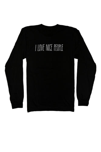Be kind shirt long sleeve for men and women from I Love Nice People!