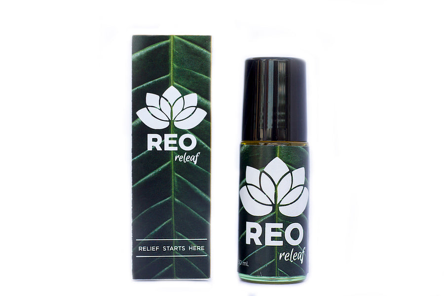 REO Releaf, relief from pains, aches, and ailments.