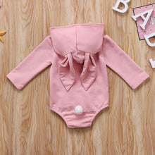 Pink Bunny Ears Hooded Romper Australia Baby Shop romper PBear Warehouse for Australia Baby Goods Online.