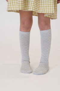 GREY LATTICE SOCKS