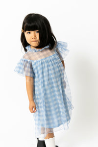 GINGHAM TULLE DRESS