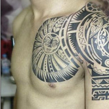 HOT New Sale 2Pcs Arms Shoulder Chest Turtle Shell Totem Apollo Bull Tau Kok Waterproof Tattoo Stickers Big Disposable body art