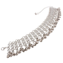 Multi Layers Crystal Link Chain Anklet Silver Gold Color Ankle Bracelet Foot Jewelry Barefoot Sandals Accessories