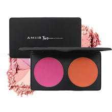 AMIIR Double Colors Rose Pink and Orange Blushes Palette