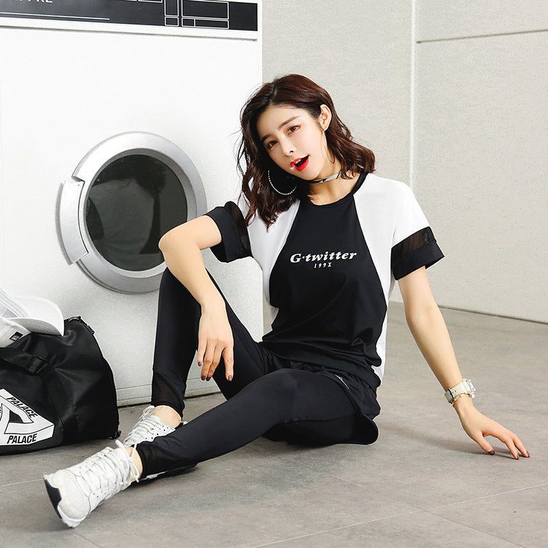 Fitness Clothing Female Spring Foreign Trade Hot Style Running Speed Dry Clothes Gym Suit Large Size Yoga Suit Female