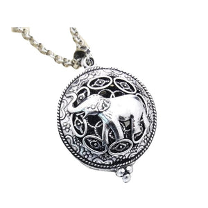 Antique look zinc alloy elephant aromatherapy necklace free shipping