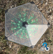 DIY - 1.5meter x 1.5meter Small Geodesic Dome - (330.0 Grams) PN 708744109231 - Overnight Composites