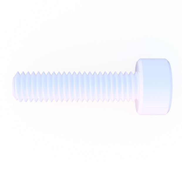 M5 x 20mm Diameter Nylon 6/6 Socket Head Cap Screw - (10) Pack (15.0 Grams) - PN 708744108586 - Overnight Composites