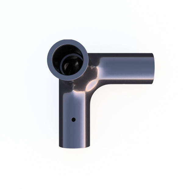 20mm Round 90º 3-Way Corner Composite Connector - (43.0 Grams) PN 708744108678 - Overnight Composites