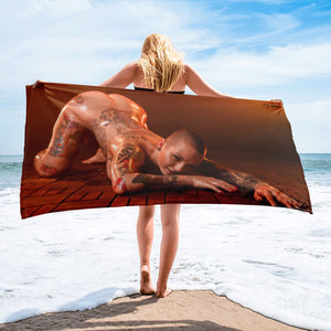 """Slippery When Wet"" Beach Towel by Jay Lynn"