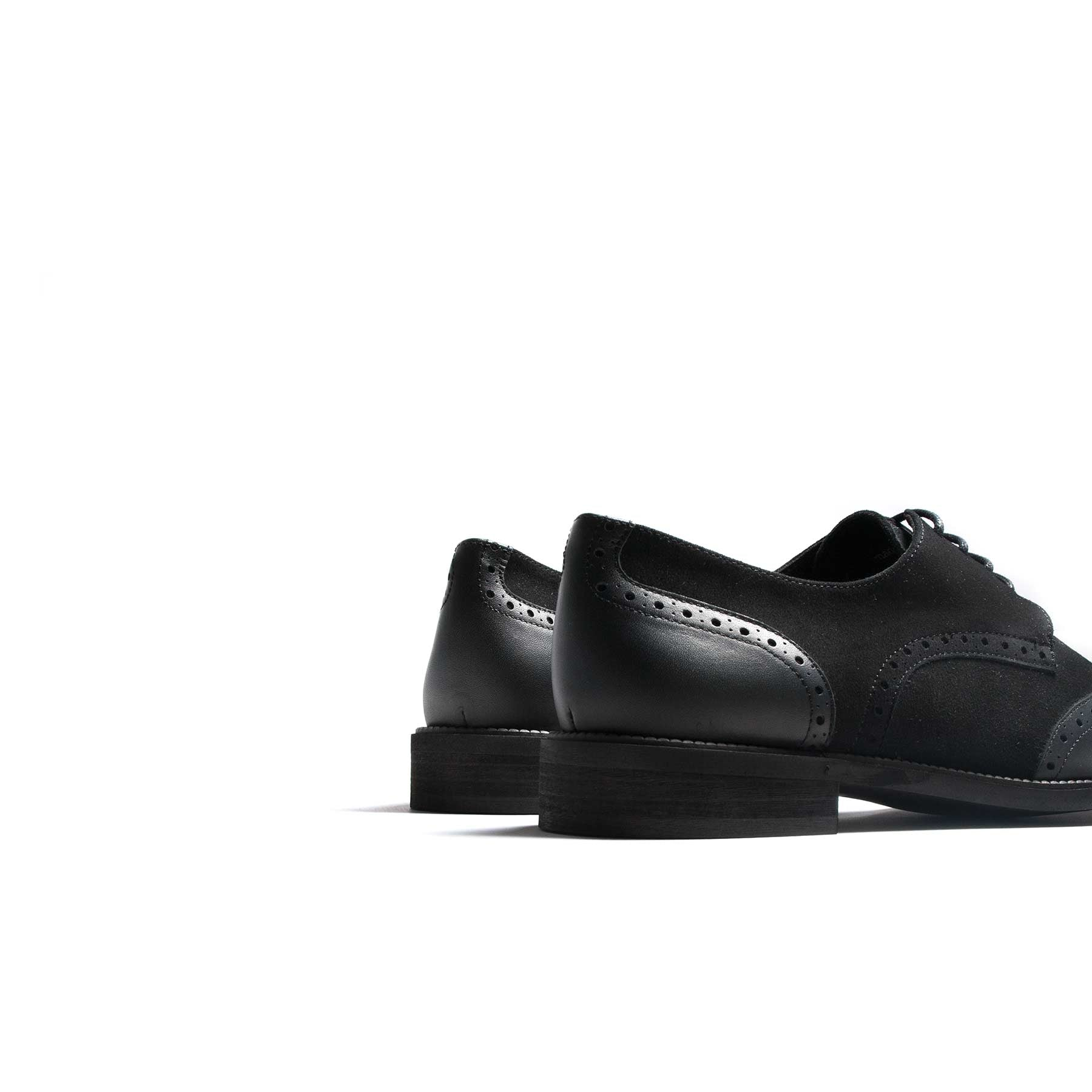 Murphy Black Leather & Suede