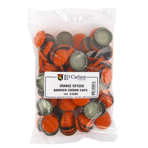 Crown Caps w/ Oxygen Barrier - 144 count - Orange