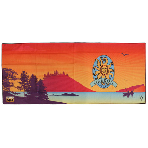 Oberon Ale Recycled Beach Towel - Lake Scene