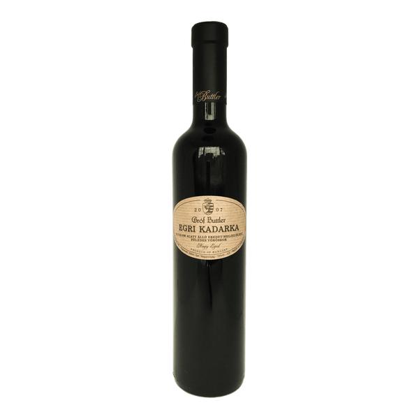 Grof Buttler, Egri Kadarka Late Harvest wine bottle