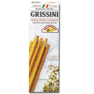 Grissini Whole Wheat Breadsticks 125gr