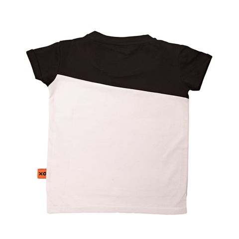 Black and White Colourblock Tee