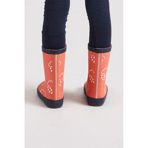 Little Kids Coral Colour - Revealing Wellies