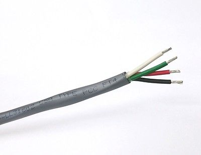 25' Alpha Wire 5064C, 4 Cond 18 Gauge Unshielded Cable 4C 18AWG Oil & Sun Resist - MarVac Electronics
