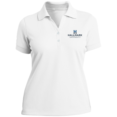 Hallmark University Ladies Nike® Dri-Fit Polo Shirt in White