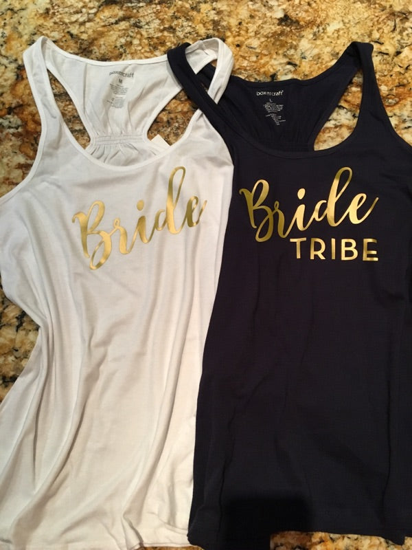 Bride Tribe Bachelorette Tanks