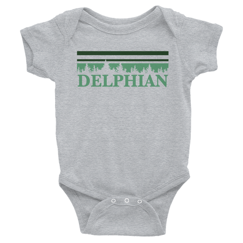 Delphian Trees Infant Onesie